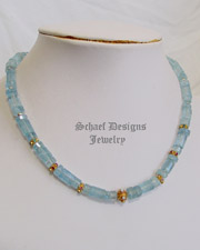 Schaef Designs Aquamarine, Opal, tourmaline, emerald, ruby & 18kt gold Necklace | New Mexico