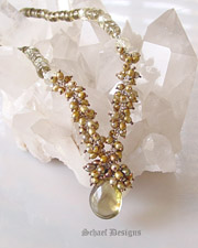 Schaef Designs Beautiful smokey citrine and bronze seed pearl gemstone necklace | New Mexico