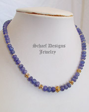 Schaef Designs Tanzanite, black opal & 18kt gold necklace  | New Mexico