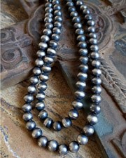 Schaef Designs HEAVY Stering Silver Navajo Pearl 2 Strand Necklace | New Mexico