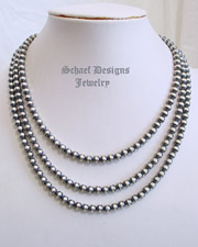 Schaef Designs Heavy 6mm sterling silver seamless Navajo Pearl necklaces | New Mexico