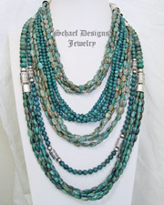 Schaef Apatite Aqua Terra & Sterling Silver Necklace Pairings | New Mexico