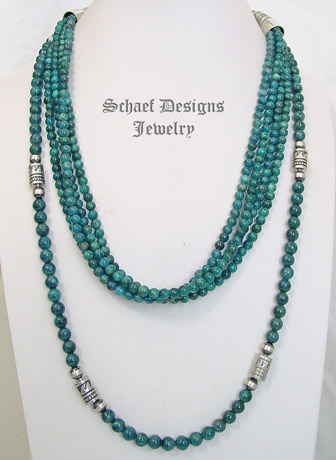 Schaef Designs Apatite & Sterling Silver Multi Strand Necklace Set | New Mexico
