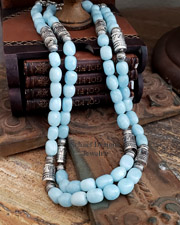 Schaef Designs Aquamarine Tube Bead Southwestern Basics Necklaces | New Mexico