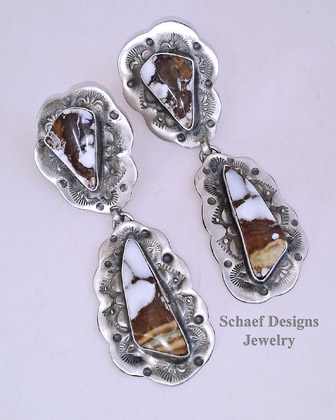 Schaef Designs AZ Wildhorse & Sterling Silver Southwestern POST Earrings | New Mexico | New Mexico