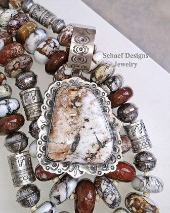 Schaef Designs Arizona Wildhorse Magnesite & Sterling Silver | New Mexico