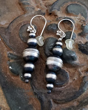 Schaef Designs Sterling Silver bench bead Southwestern wire earrings | New Mexico