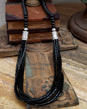 Schaef Designs Black onyx Southwestern basics multi strand necklace | New Mexico