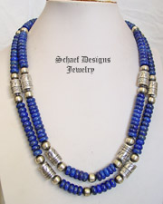 Schaef Designs Deep Blue Lapis Tube Bead Necklaces | Southwestern Basics | New Mexico