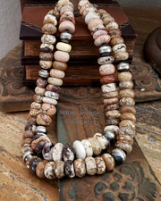 Schaef Designs Schaef Designs Brown Buffalo Turqouise & Navajo Pearl Necklaces | New Mexico
