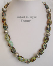 Schaef Designs Turquoise & Sterling Silver Southwestern Necklace | New Mexico