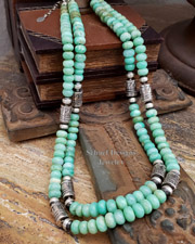 Schaef Designs Gray Moonstone & Sterling Silver Tube Bead Necklaces | New Mexico