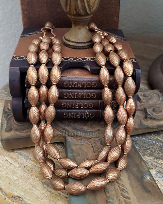 Schaef Designs 3 strand copper Southwestern necklace | New Mexico