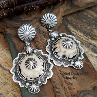 Schaef Designs deer antler crown & sterling silver Southwestern CLIP Earrings | Southwestern Basics Collection | New Mexico