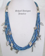 Schaef Designs Denim Lapis & Sterling Silver Treasure Necklace | New Mexico