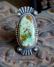 Derrick Gordon green turquoise & sterling silver ring | Schaef Designs | New Mexico