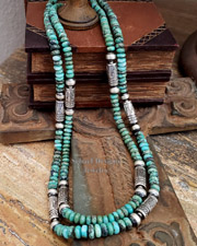 Schaef Designs Purple Turquoise & Sterling Silver Tube Bead Necklaces | Southwestern Basics | New Mexico