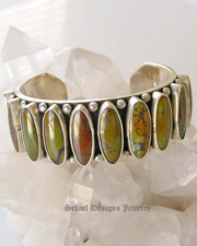 Dan Dodson Green Turquoise Cuff Bracelet |  Schaef Designs | New Mexico