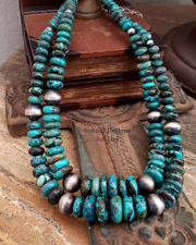 Schaef Designs Hubei Turquoise & Large Navajo Pearl Necklace | New Mexico
