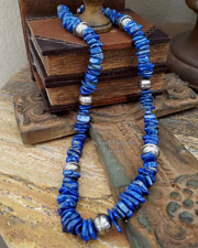 Schaef Designs Lapis Tab & Sterling Silver Necklace | New Mexico
