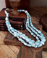 Schaef Designs Large Buffalo White Turquoise Necklaces | New Mexico