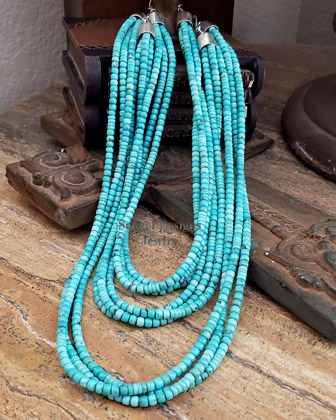 Schaef Designs LONG Campitos Turquoise wrapping necklace | Arizona