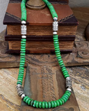 Schaef Designs Mojave green turquoise & Sterling Silver Necklace | New Mexico