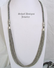 Schaef Designs Southwestern Basics Long Navajo Pearl Multi Strand Necklace | New Mexico