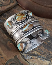Schaef Designs #8 Turquoise & Sterling Silver Stacking Cuff Bracelet Set | Arizona