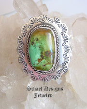 Pat Platero Artist Signed Turquoise & Sterling Silver ADJUSTABLE Ring | Schaef Designs | New Mexico