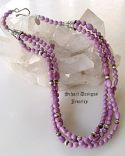 Schaef Designs Phosphiderite & Navajo Pears Bead Necklace | New Mexico