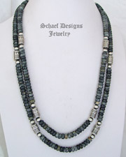 Schaef Designs Picasso Jasper & Sterling Silver Southwestern Basics Tube Bead Necklaces | New Mexico