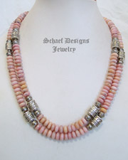 Schaef Designs Pink Peruvian Opal Tube Bead Necklaces | Southwestern Basics | New Mexico