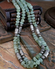 Schaef Designs Prehnite Tube Bead Necklaces | New Mexico
