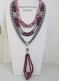 Schaef Designs Purple Spiny Oyster Shell Necklace Pairings | New Mexico