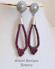 Schaef Designs Purple Spiny & Sterling Silver Post Earrings | New Mexico