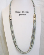 Schaef Designs Putty Picasso Jasper & Sterling Silver Long Multi Strand Necklace | New Mexico