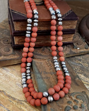 Schaef Designs Southwestern matte red jasper basics Necklace | Arizona