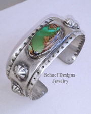 Schaef Designs Royston Turquoise & Sterling Silver Southwestern Stacking Cuff Bracelet | New Mexico