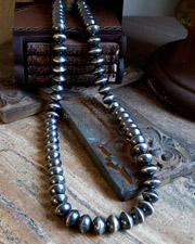 Schaef Designs Sterling Silver Saucer Bead Navajo Pearl Necklaces | New Mexico