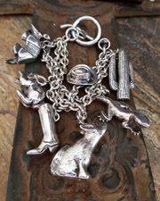 Vintage Susan Cummings Southwestern Sterling Silver Charm Bracelet | New Mexico