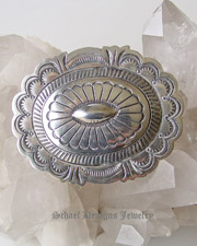 Large sterling silver concho pin brooch | Schaef Designs | New Mexico