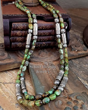 Schaef Designs Chamois Jade & Sterling Silver Southwestern Basics Necklaces | New Mexico