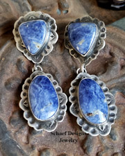 Schaef Designs Sodalite & Sterling Silver Earrings POSTS | New Mexico