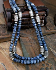 Schaef Designs Sodalite & Sterling Silver Navajo Pearl Necklaces | New Mexico