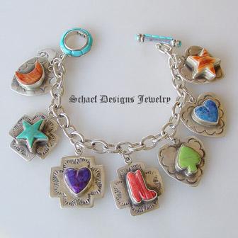 Schaef Designs Jewelry Southwestern Totem Charm Bracelet Vintage