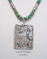 Schaef Designs Sterling Silver Southwestern Sampler Pendant | New Mexico