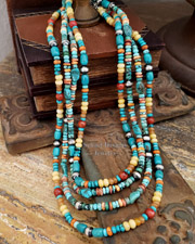 Schaef Designs Turquoise Spiny Oyster & Sterling Silver Layering Necklaces | New Mexico