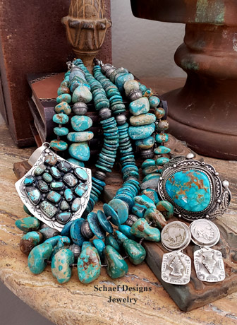 Schaef Designs howlite, gray moonstone & sterling silver necklaces pairing | Arizona