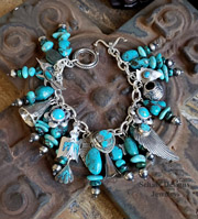 Schaef Designs Turquoise & Sterling Silver Southwestern Charm Bracelet | Arizona